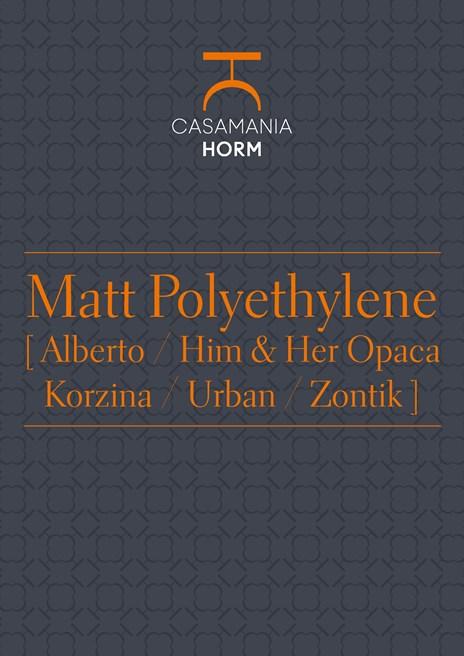Matt polyethylene