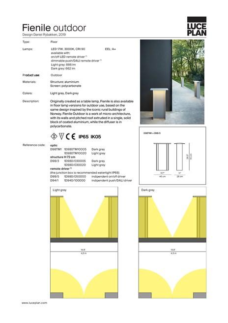 Technical sheet Fienile outdoor