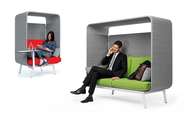 Poltrone e divani acustici per ambienti condivisi: Privée Ares Line