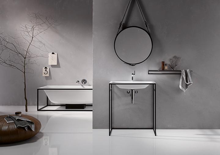 Vasca Da Bagno Con Telaio : Arredi bagno con telai in acciaio smaltato bettelux shape
