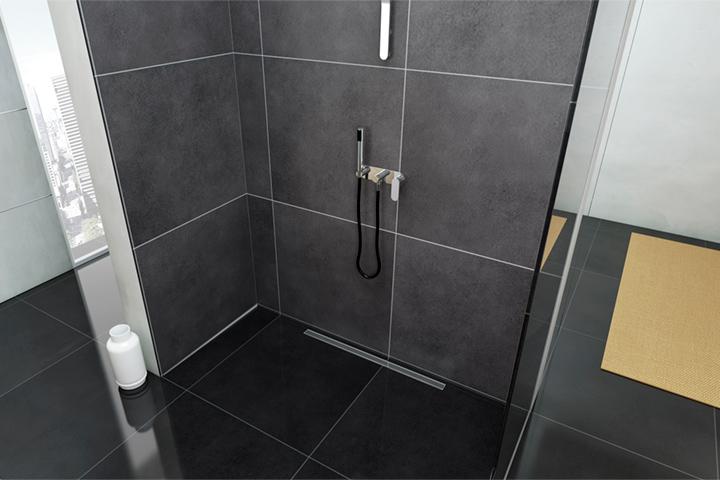 Canaline doccia a filo pavimento profilpas