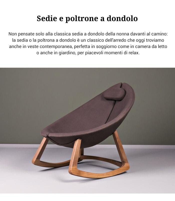 Sedia A Dondolo Classica.Sedie E Poltrone A Dondolo