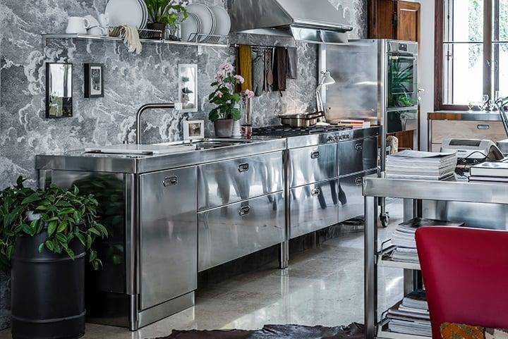 Cucine in acciaio modulari personalizzabili alpes inox for Cucine modulari