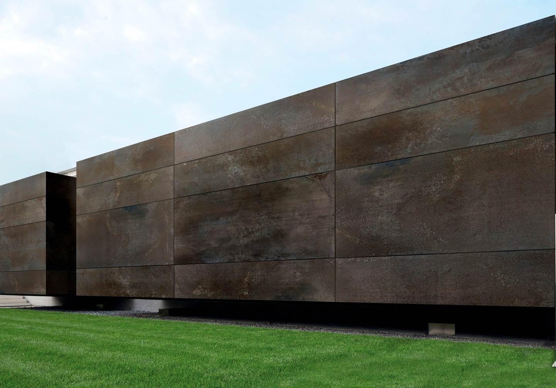 Carpentieri Edili In Svizzera go industrial with metal look tile: flowtech