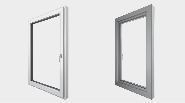 Finestra internorm in pvc alluminio a triplo vetro ad alto isolamento termico - Condensa su finestre in alluminio ...
