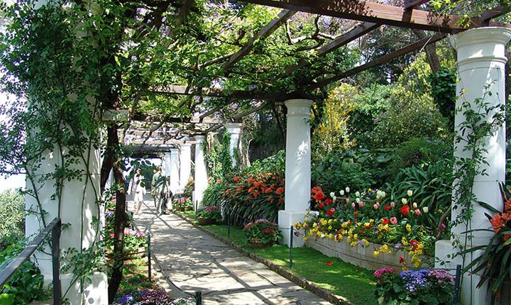 de2e8fa973 Il giardino è disposto su livelli diversi e presenta una grande varietà di  colori. Ha ricevuto il premio Giardino più bello d'Italia.