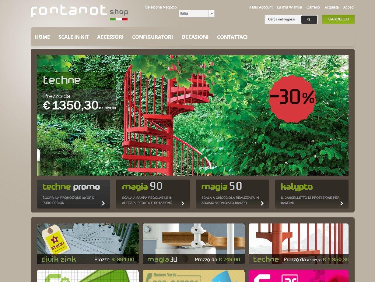 Fontanot presenta il primo sito e commerce dedicato a scale e