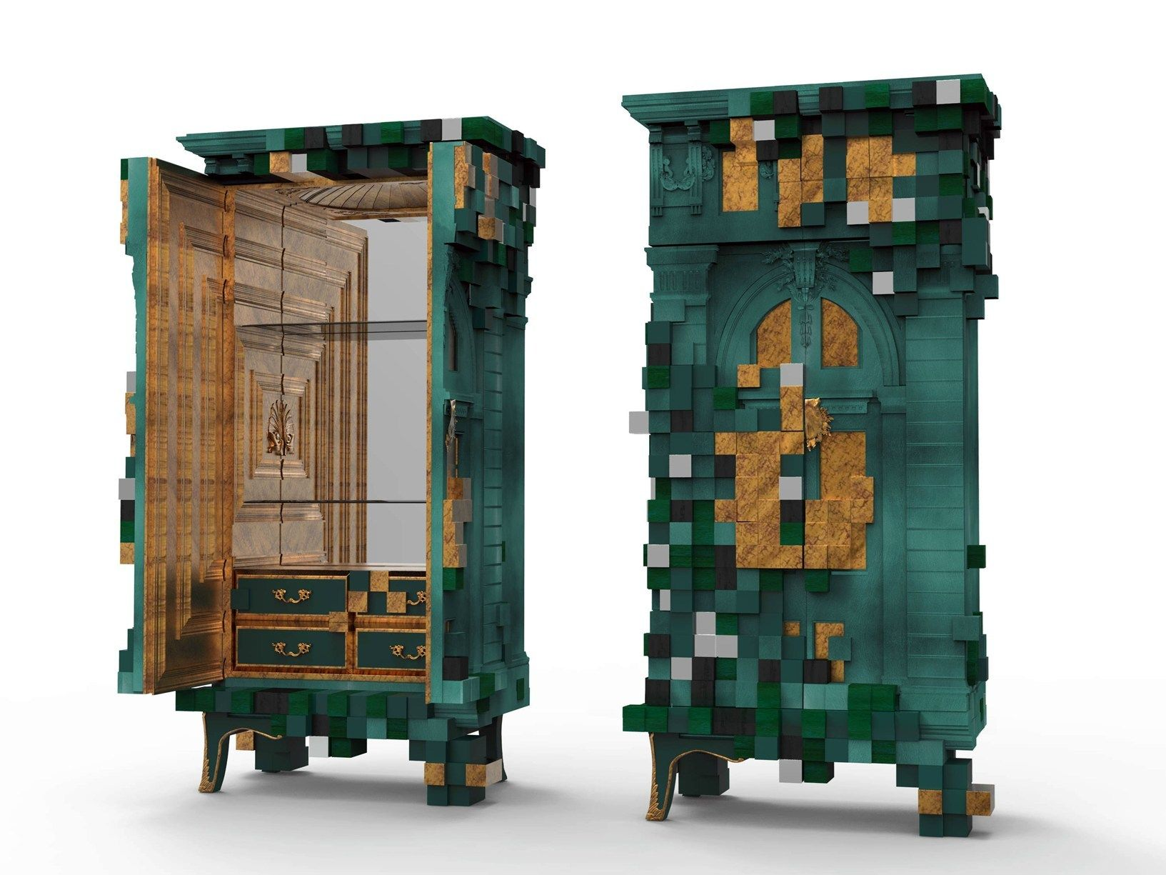 The Modern Piccadilly Cabinet In Emerald Green Designed By Boca Do