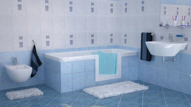 Vasche Da Bagno Apertura Laterale Misure : Sovrapposizione vasca con sportello di remail per anziani e disabili