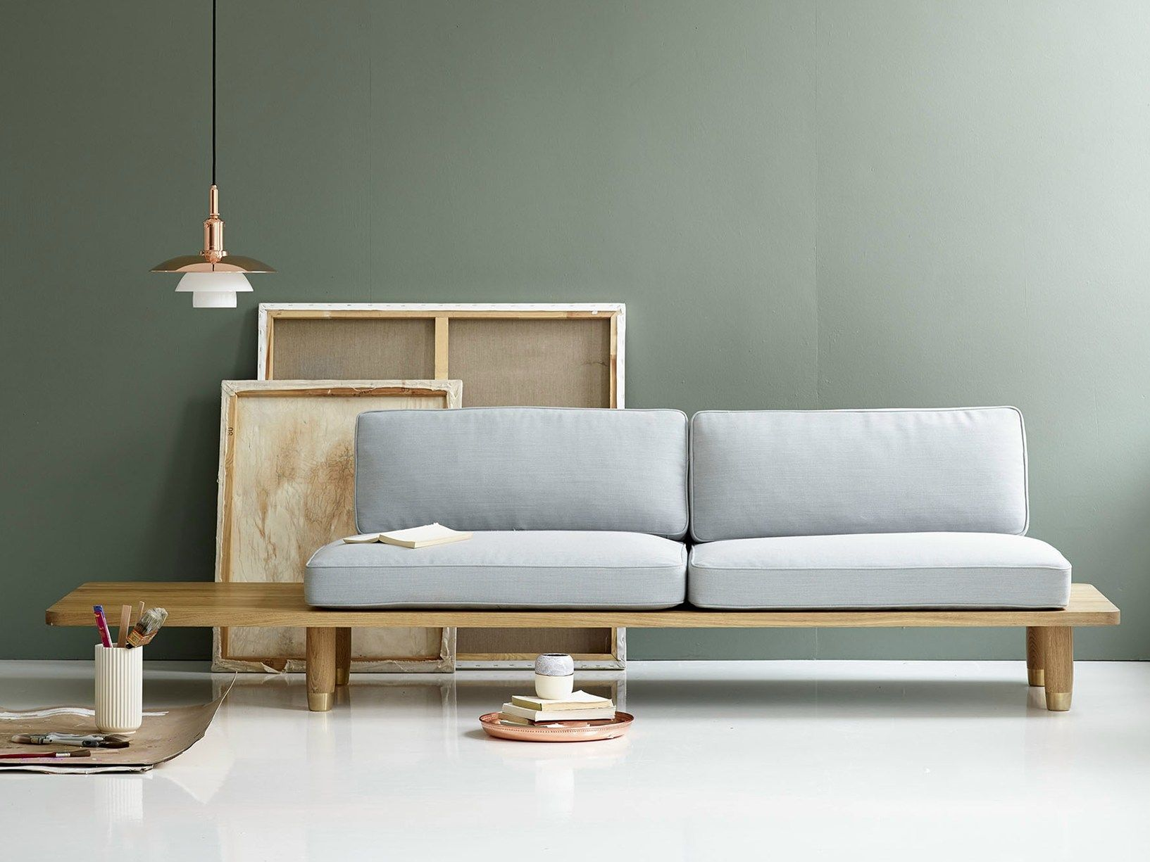 Scandinavian style, international elegance: Plank Sofa by dk3