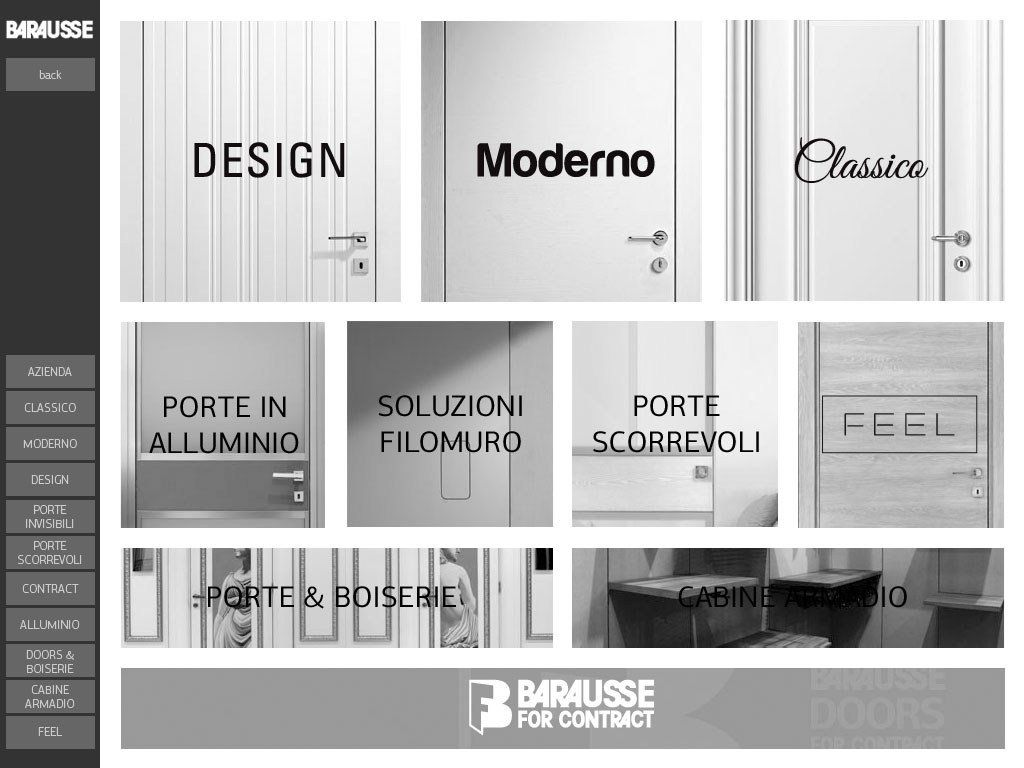Barausse. Porte Made in Italy: new App for Tablet e iPad