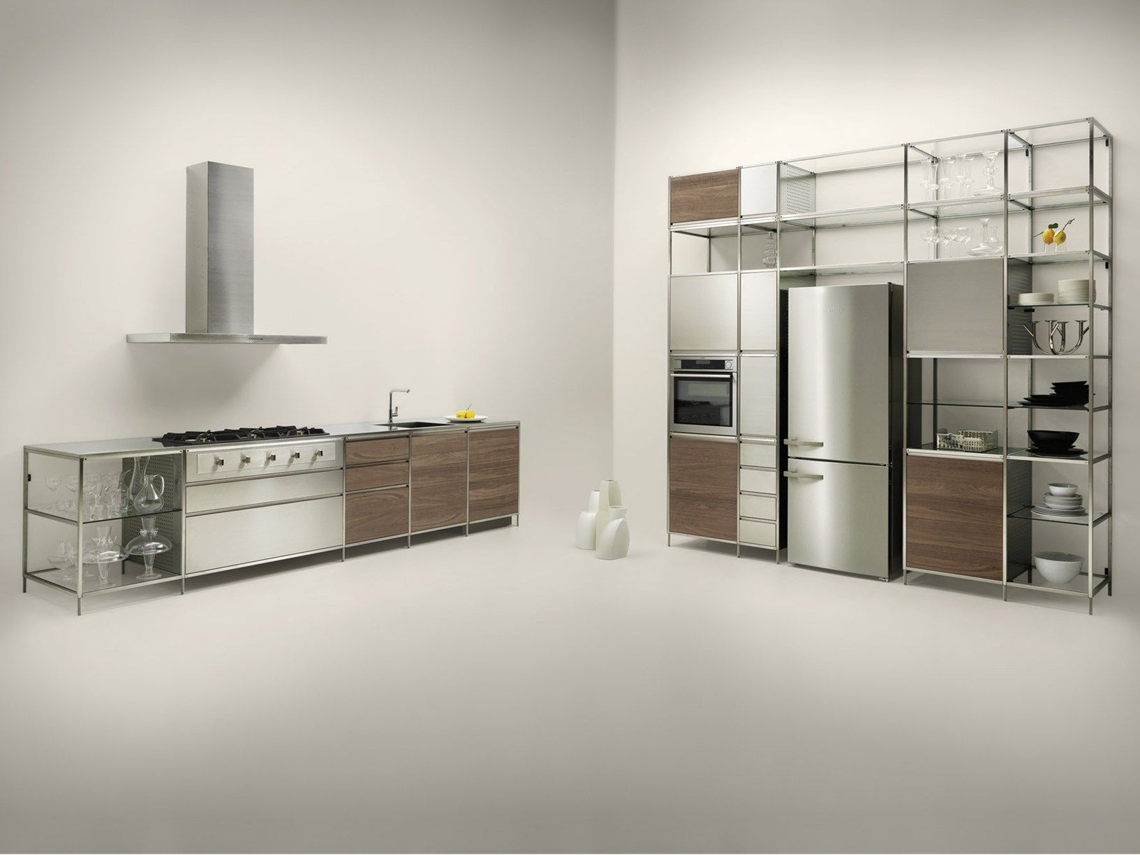 Meccanica by Valcucine: modular kitchen with a lightweight frame