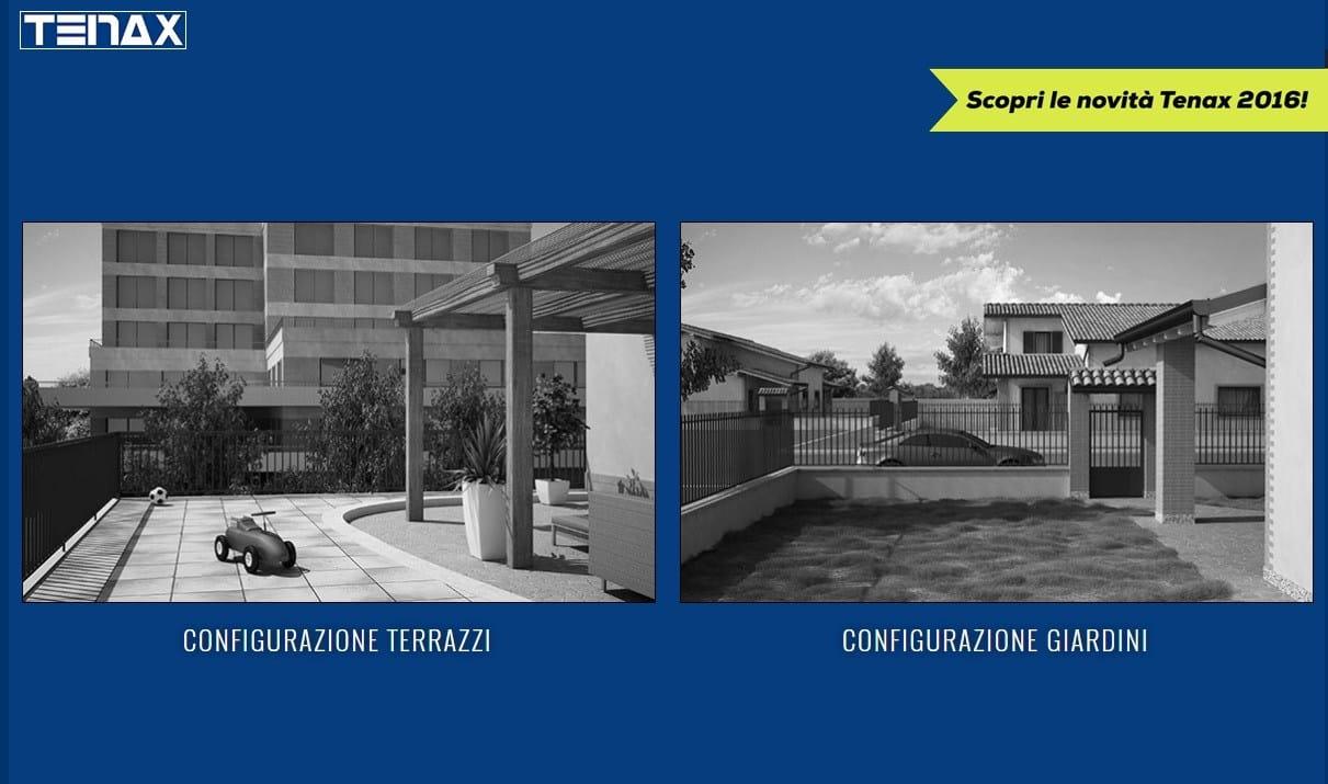Divisori In Plastica Per Terrazzi tenax propone il suo configuratore per terrazzi e giardini