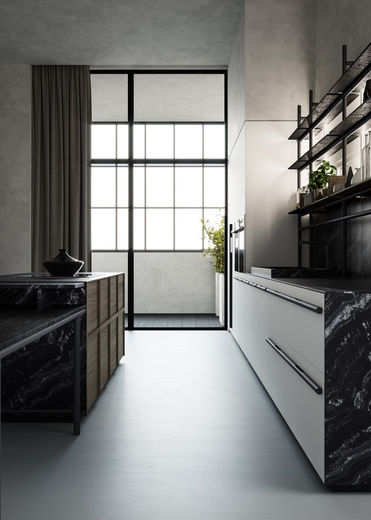 Kitchen inspired on ancient Japanese tradition