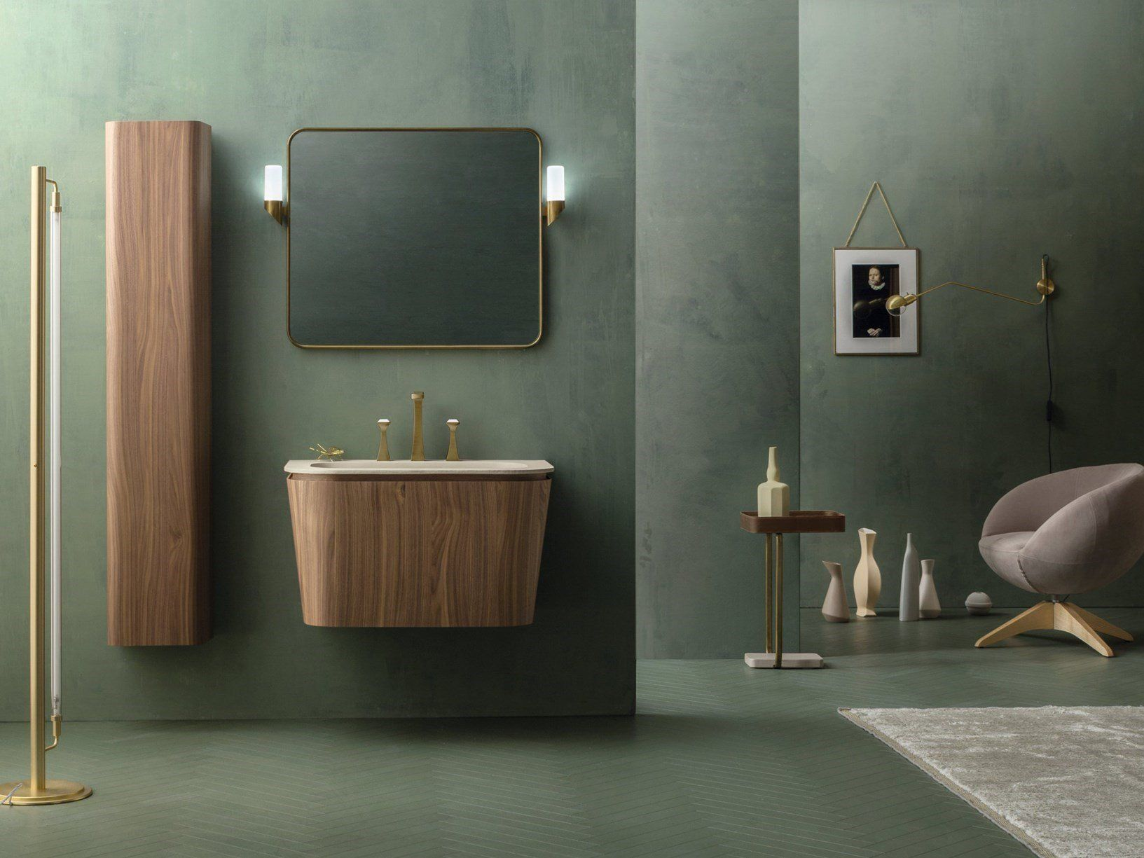 Mobili Bagno Art Deco.Suede Bathroom Inspired By Art Deco Style