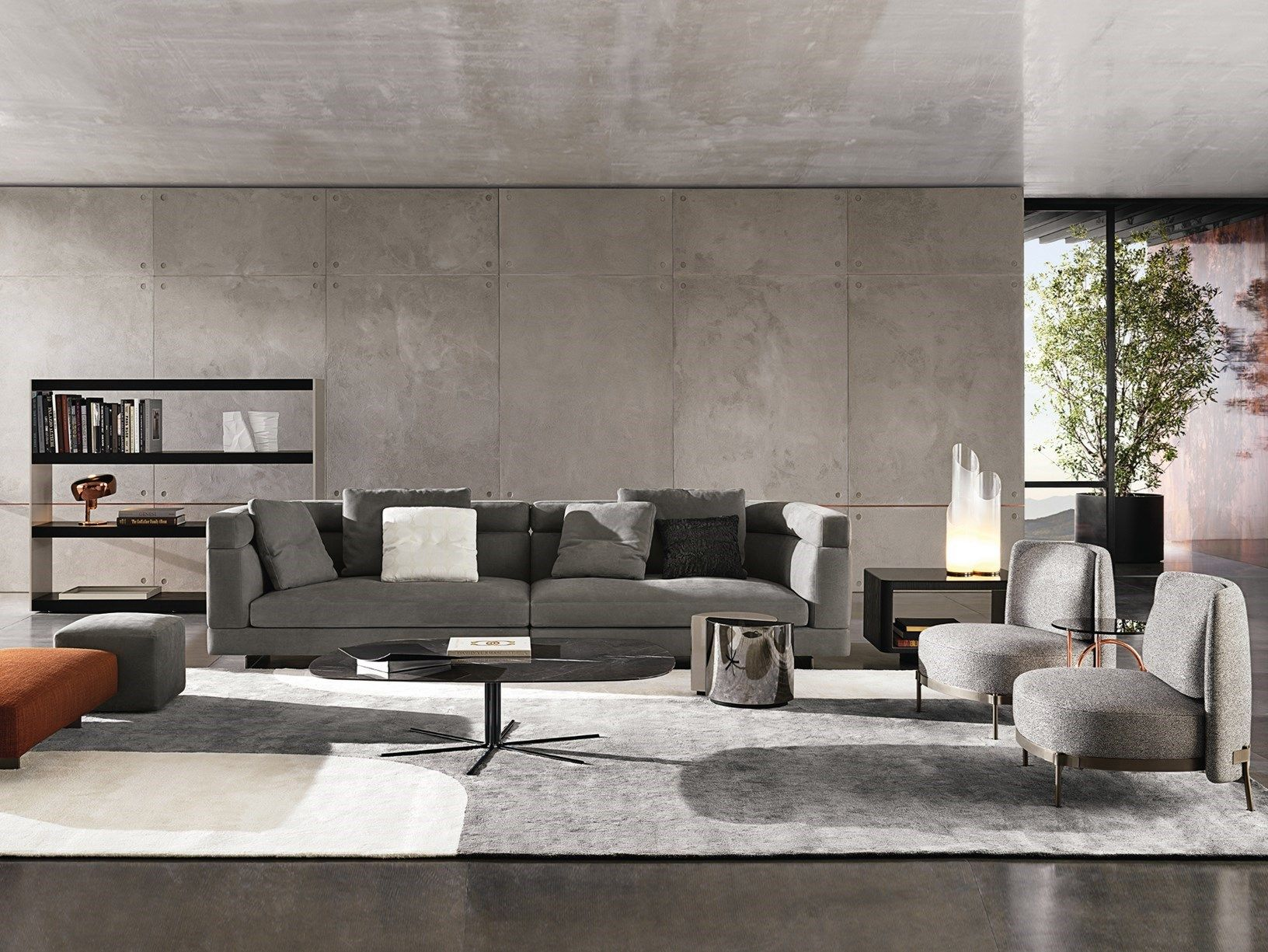 Design Bank Minotti.Minotti 2018 Collection On Show At Imm