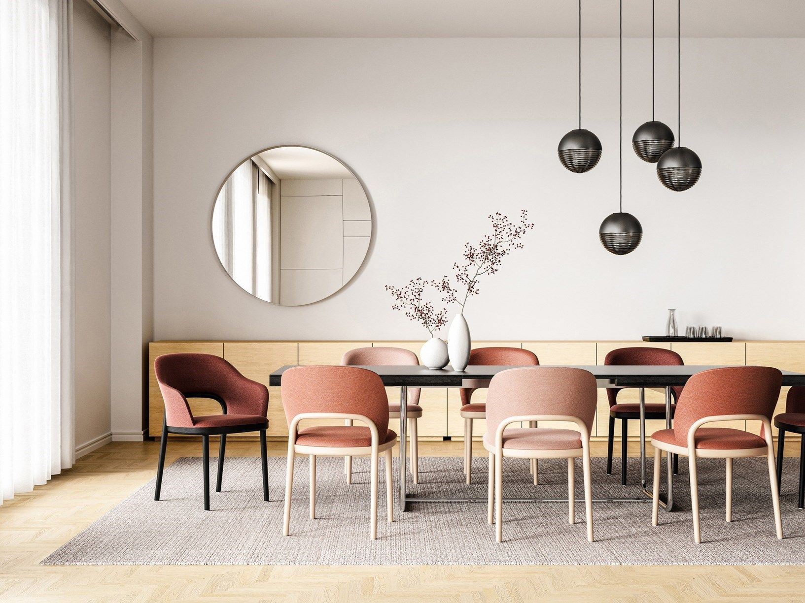 The new Upholstered Chair 10 by Marco Dessí for Thonet