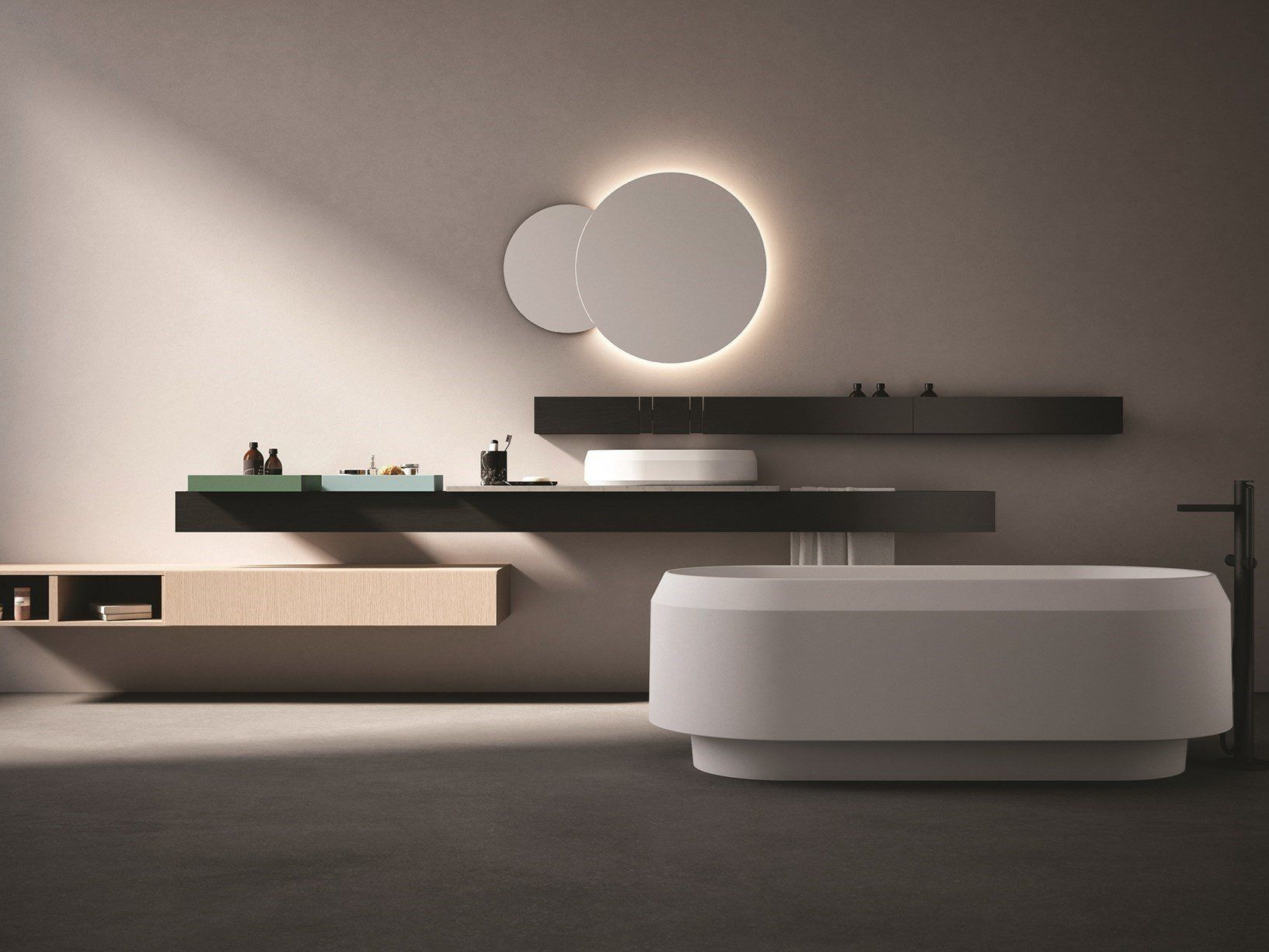 Etagere Pour Vasque A Poser the architecture of the bathroom according to agape