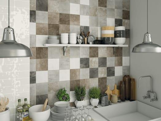 Cemento marmo tessuto e legno per lastre ceramiche di grandi
