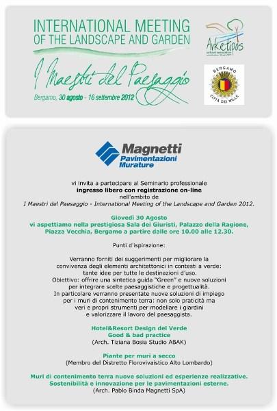 Magnetti Muri A Secco.Il Seminario Sull Architettura Dei Contesti Verdi Promosso