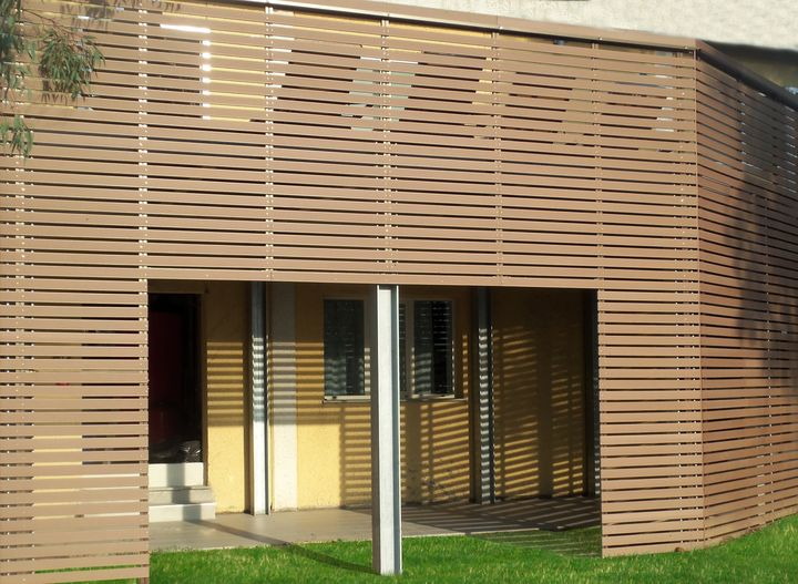 Brise Soleil Railings And Decking Plasticwood For The New Style Of