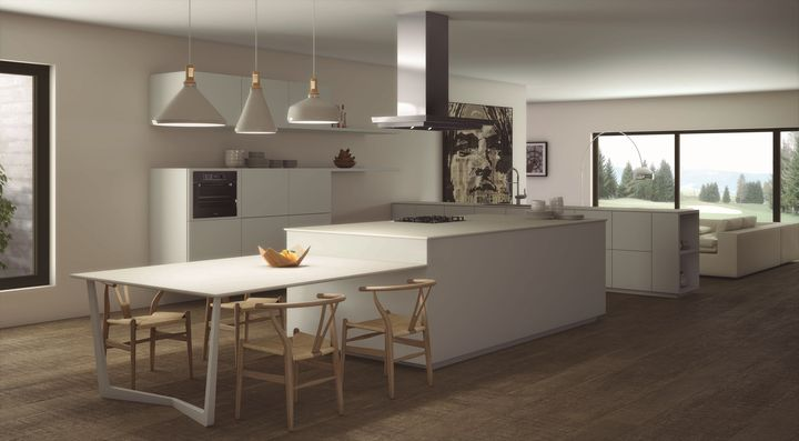 iTOPKer solutions: Porcelain slab countertop by Inalco