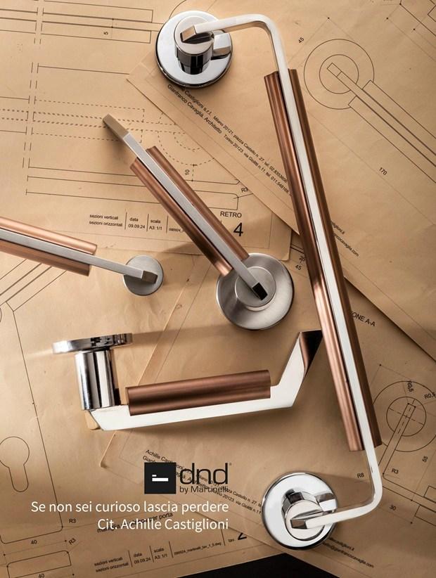 dnd by Martinelli presenta la serie di maniglie C-1918 firmata Achille Castiglioni & Gianfranco Cavaglià