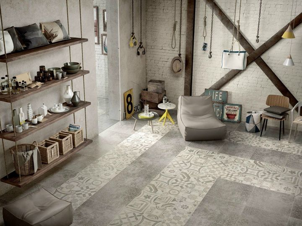 Il fascino delle tradizionali piastrelle in cemento decorato in chiave