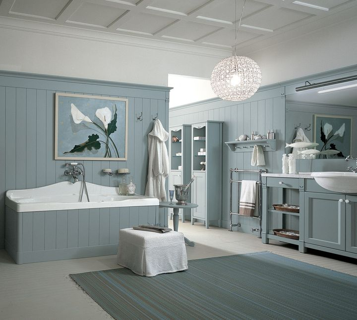 Minacciolo English Mood Bathroom – Dawn Blue finish