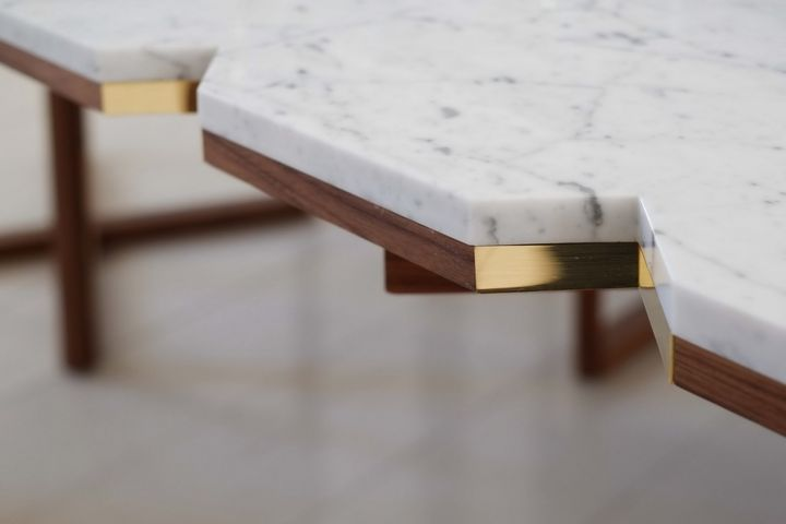 Walnut Wood, with Marble and Cotton