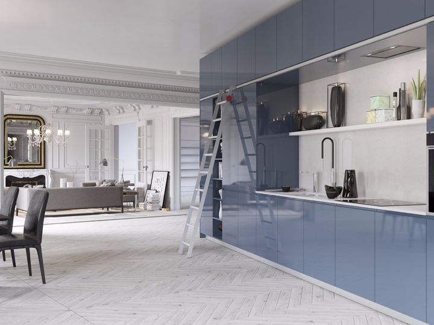 spazio in cucina con Loft System