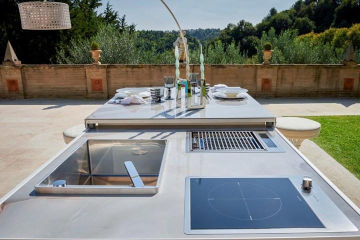 cucine per esterno firmate Samuele Mazza