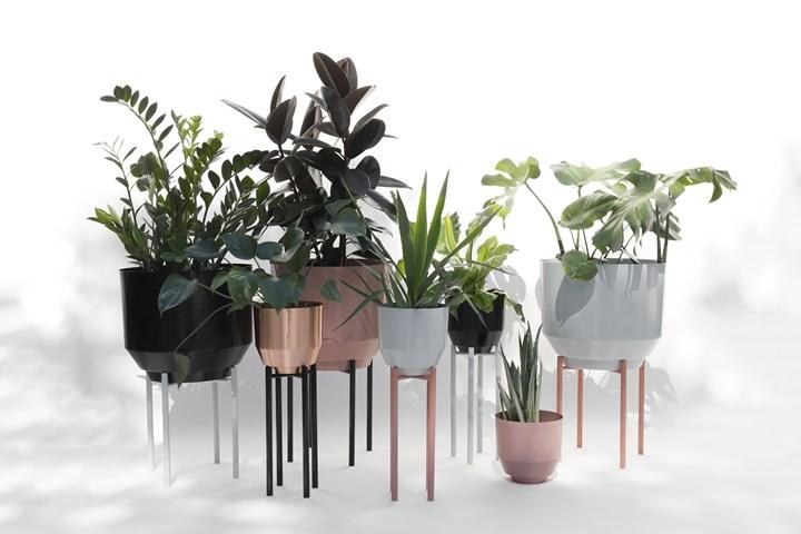 Spun Planters & Planter Stands
