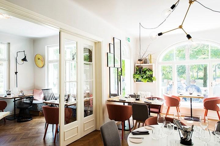 Le poltroncine Nasu di Zilio A&C per il Villa Paju Restaurant di Tallinn