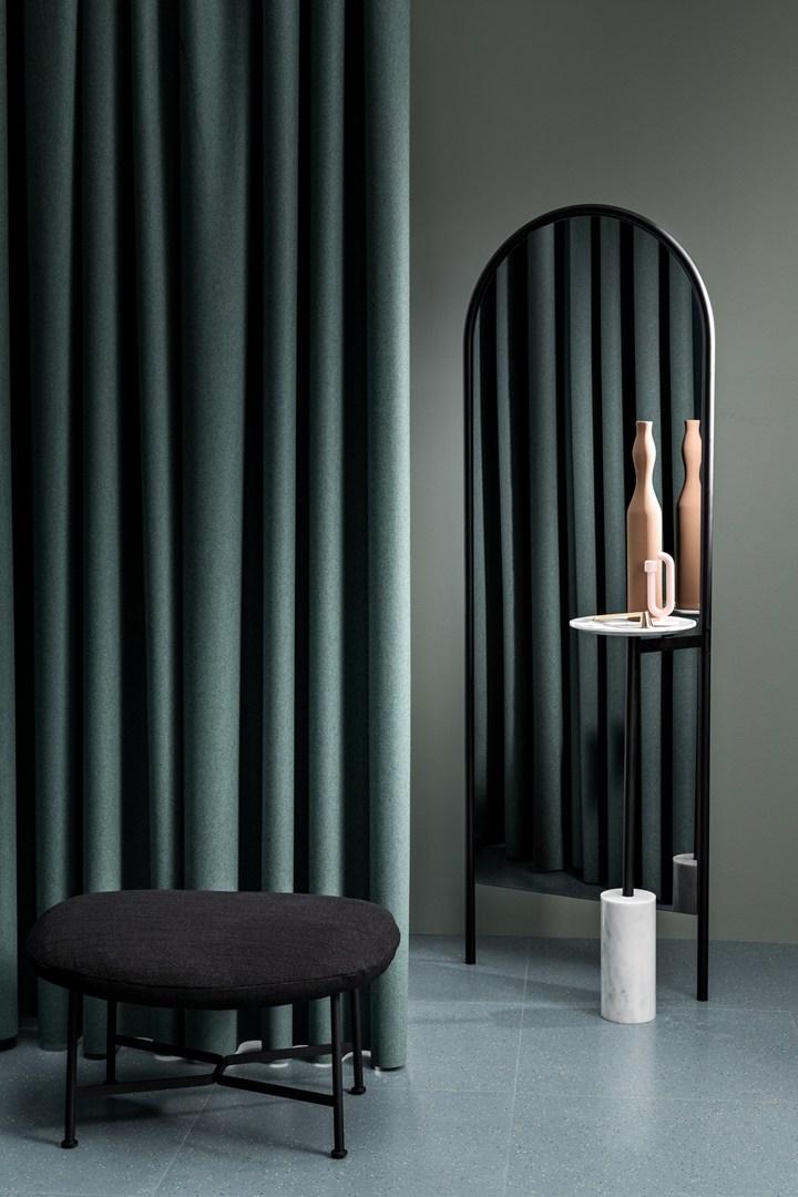 SP01, Caristo Ottoman - - Michelle Mirror Floor