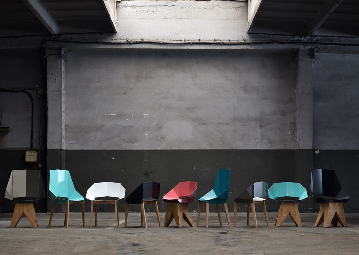 GIE EL presents a chair made from bent steel and natural wood