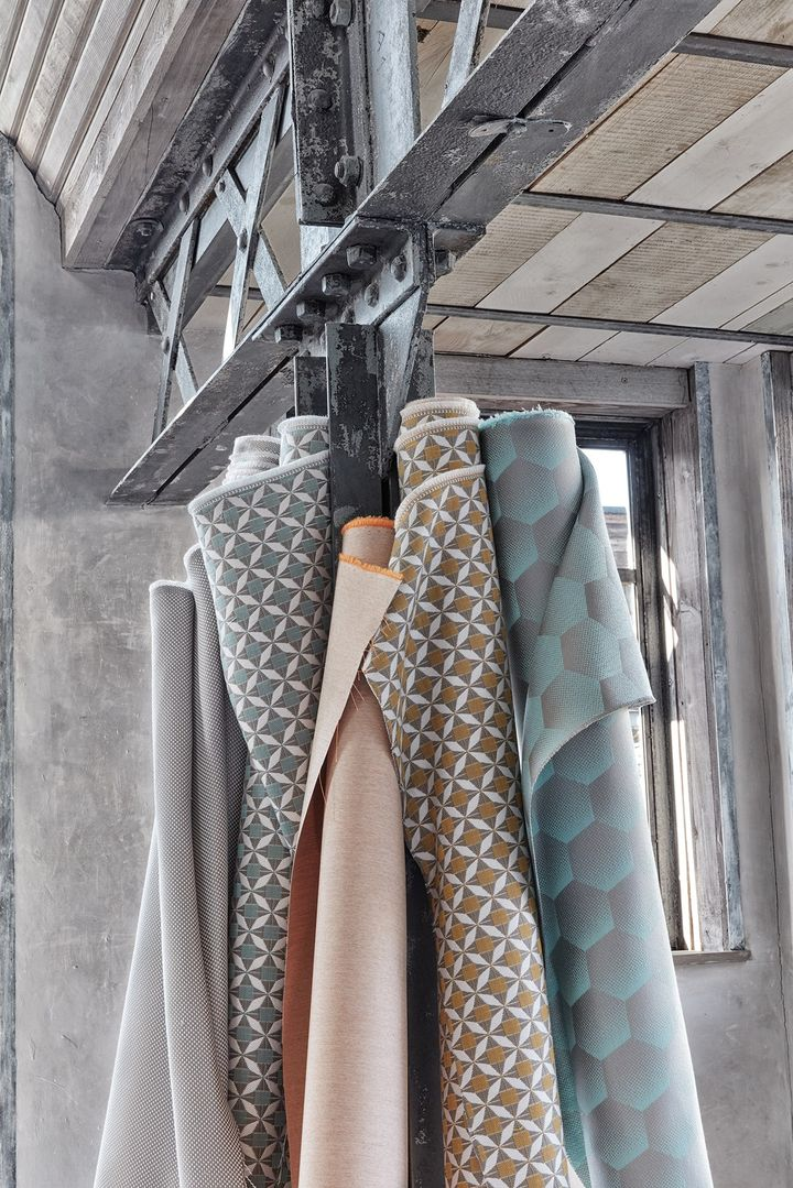 Textiles inspired by Scandinavian style combined with industrial chic