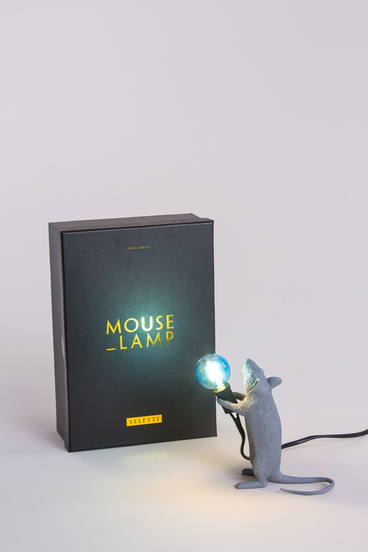 GREY MOUSE LAMP