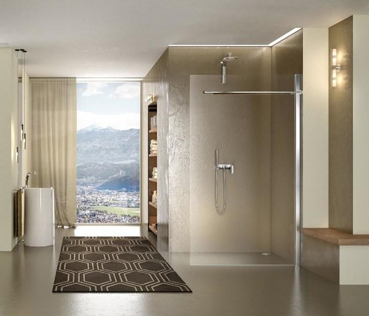 La collezione di cabine doccia walk-in di duka