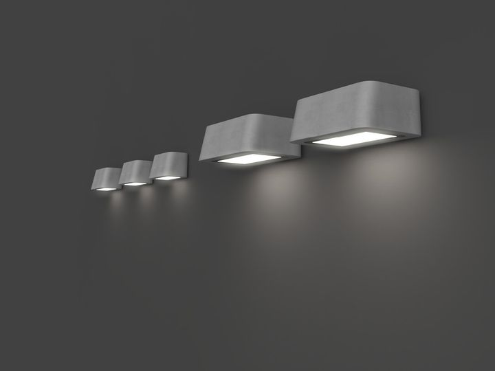 Brenta collection, Wall mounted luminaires S and L