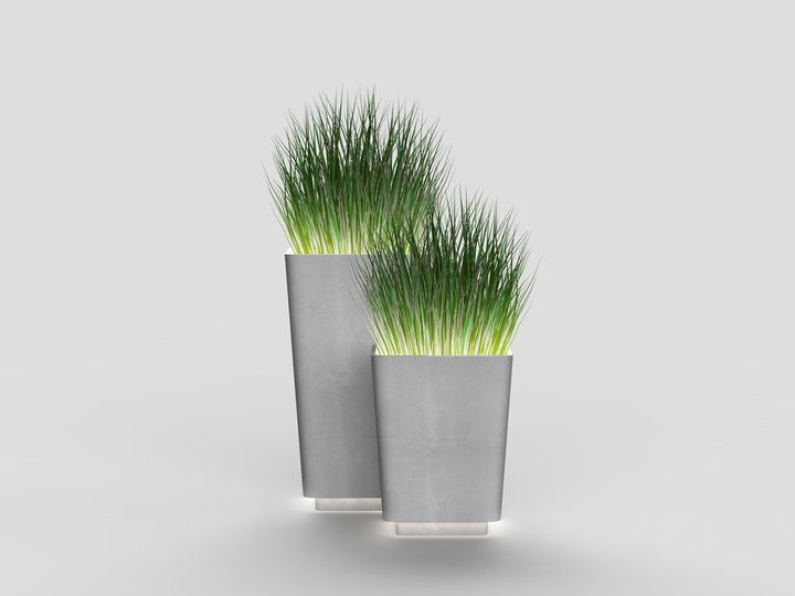 Brenta collection, Illuminated planters L and M