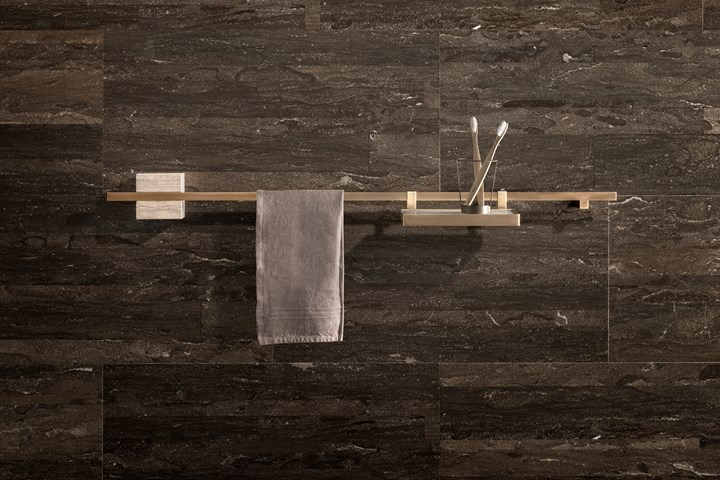 TABL-EAU. Natural Stone and Burnished Brass