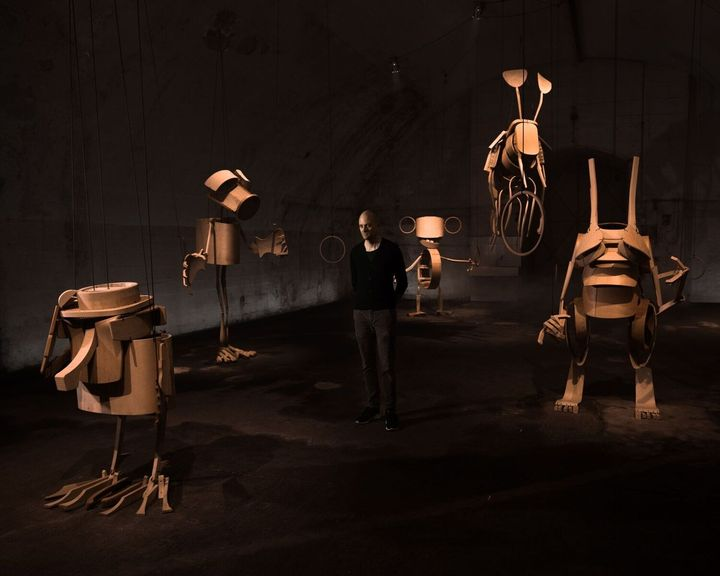 Miano Design Award 18 - Unicorn Giants with Dwarf by Stephan Huerlemann for Horgenglarus