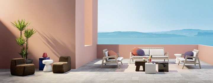 Outdoor relax according to Paola Navone