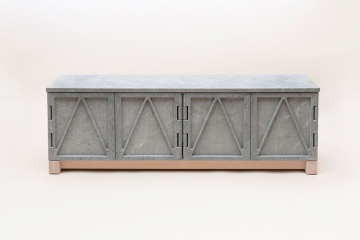 Credenza Da Terrazzo : Marble brass travertine and terrazzo materials turned into objects