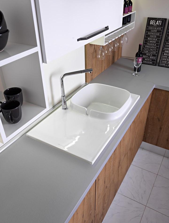 UP, il primo lavello da cucina Scarabeo Ceramiche