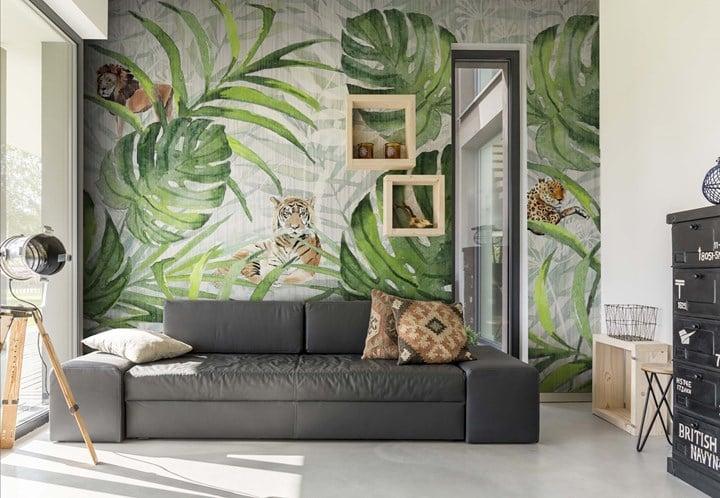 Acquerelli, texture e sovrapposizioni per decorare le pareti