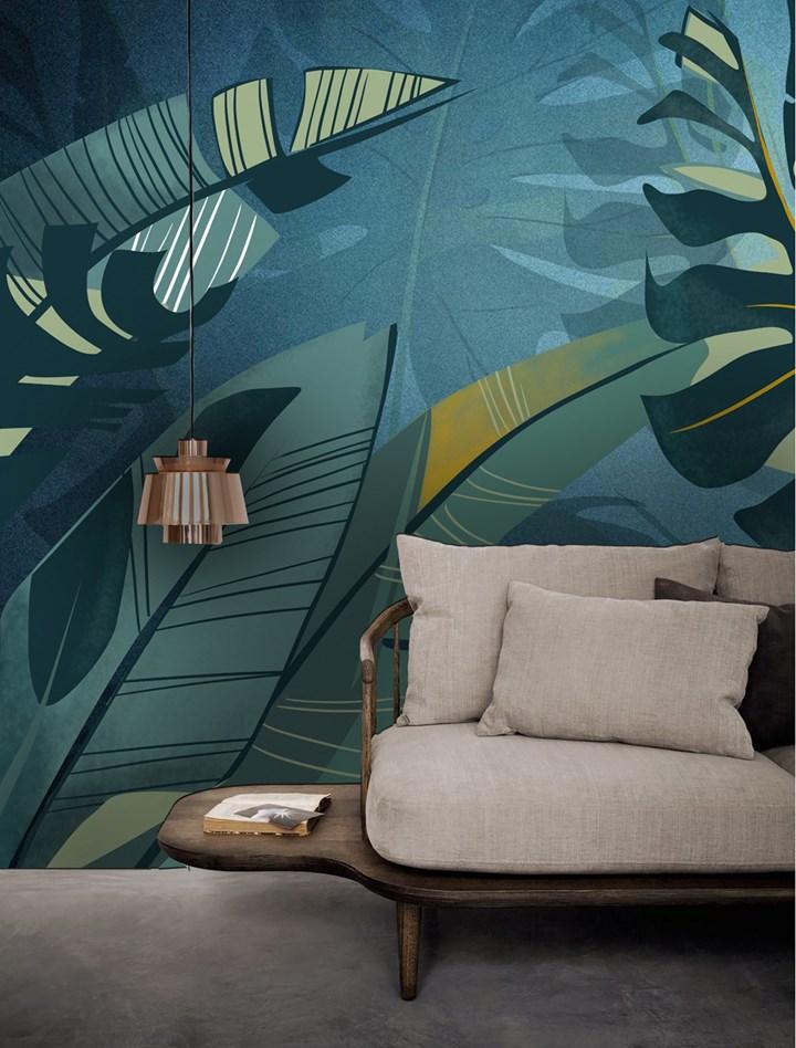 Fiori, piante esotiche e animali invadono le pareti