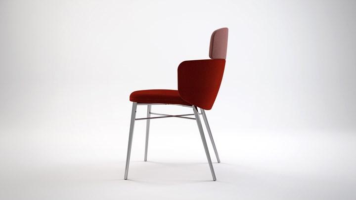 La sedia 'ricomposta' con la tecnica giapponese del Kintsugi