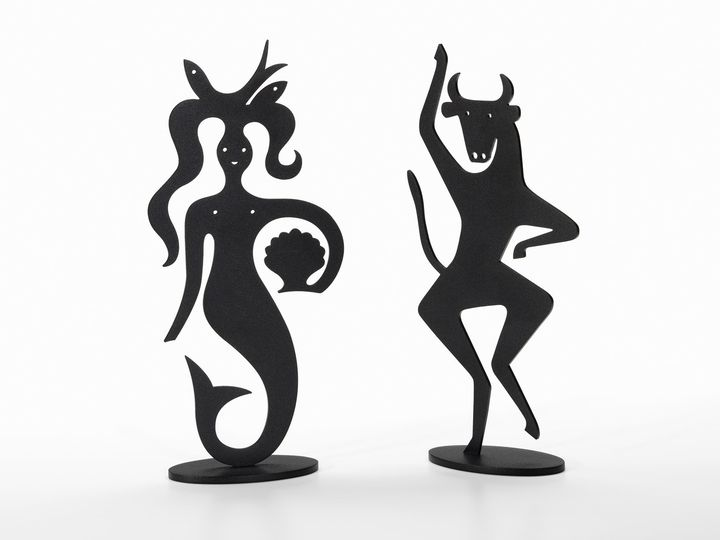 Silhouettes Mermaid and Bull